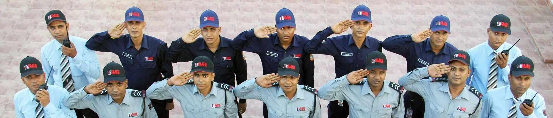 Elite Force Guard Saluting