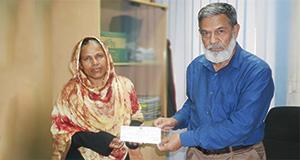 Elite Force Providing Insurance Cheque